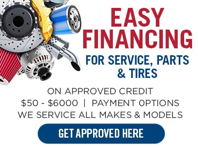 Flexible Monthly Payments - Financing options for Tires, Service & Parts